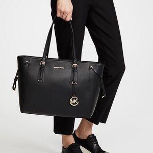 Michael Kors Voyager Crossgrain Leather Tote Bag